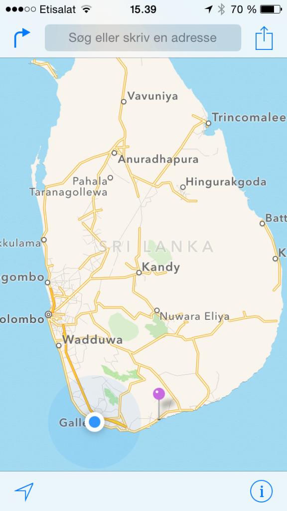Tuk Tuk fra Tangalle til Unawatuna lige uden for byen Galle.