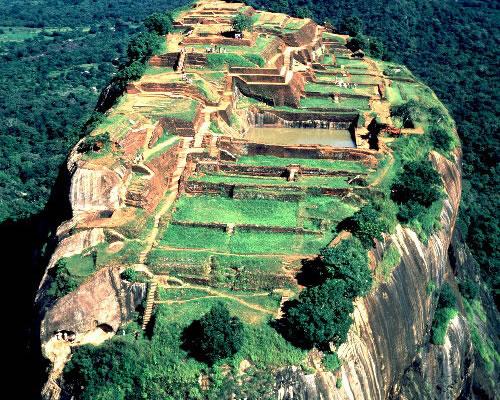 Luft-foto af Sigiriya.